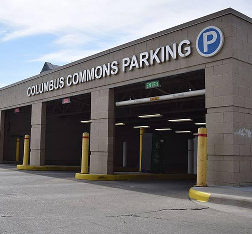 Columbus Commons Underground Garage (preferred)
