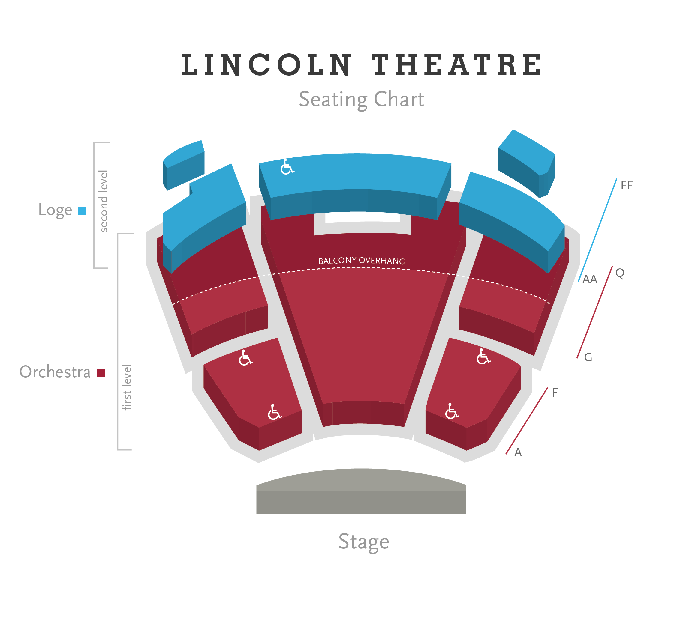 Lincoln Theatre Seating Chart Png