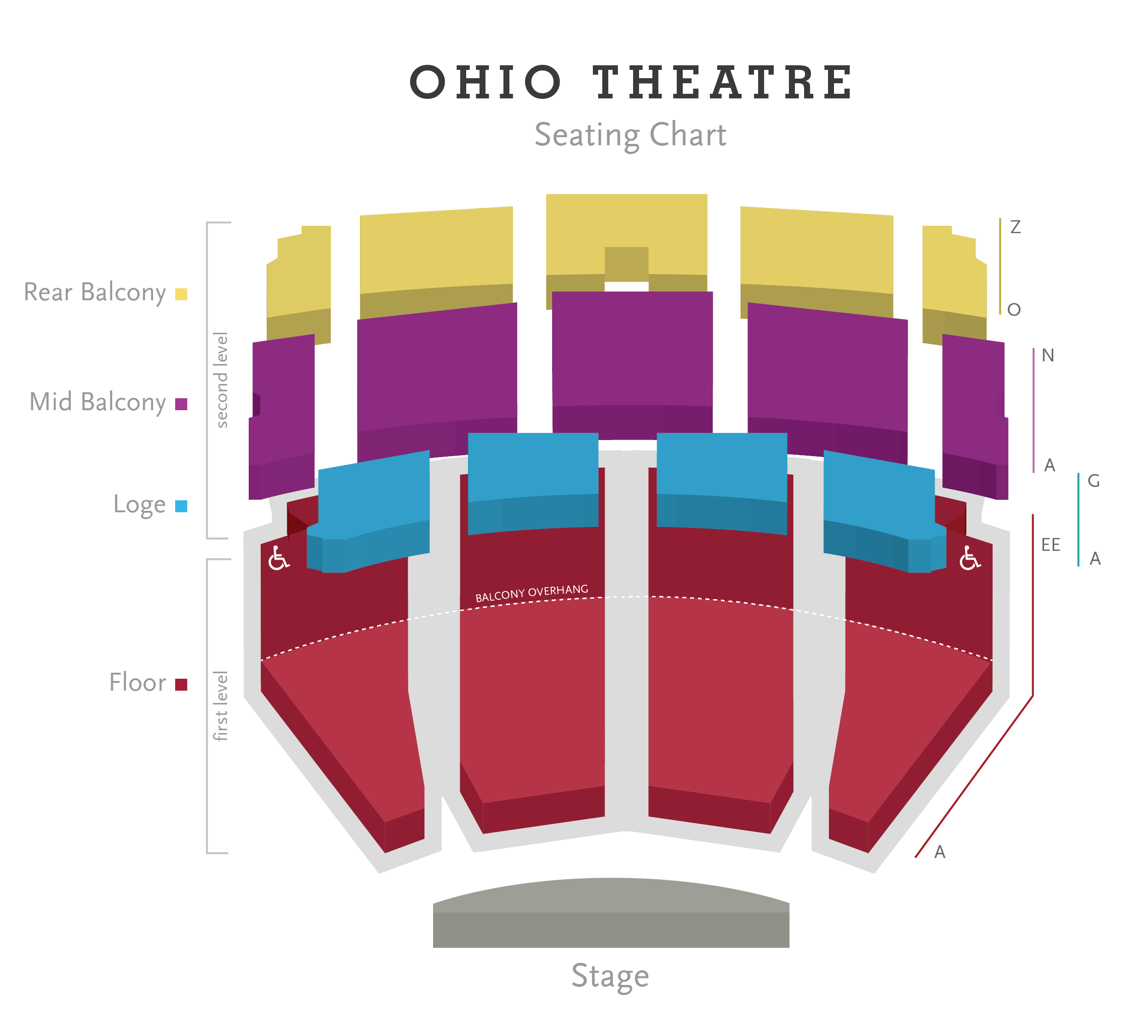 Seating Charts | Columbus Association for the Performing Arts