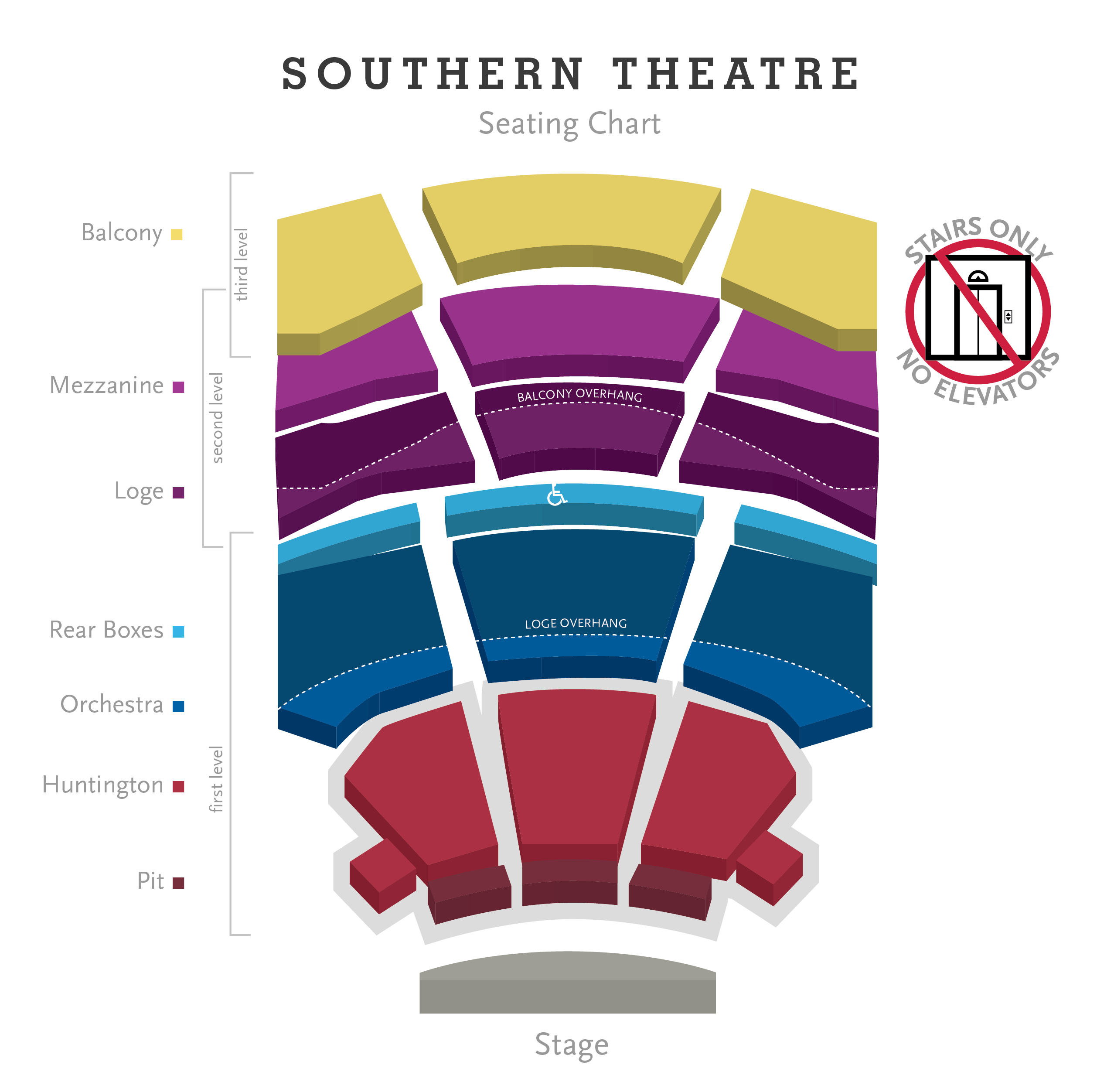Seating charts columbus association for the performing arts